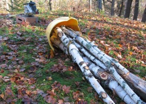 treuil forestier sur luge